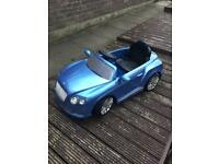 Kids toy ride on Bentley , 12 volt with parental controls