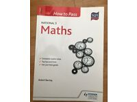 NATIONAL 5 MATHS STUDY BOOKS INCLUDING HOW TO PASS