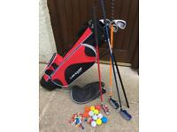 Child's Left Handed Golf Package (suit 7-10 years)