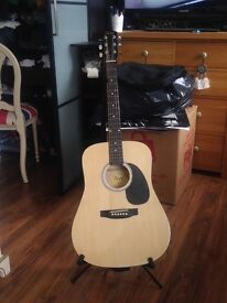 Fender guitar (includes guitar, strap, tuner, capo, case & stand) Open to offers