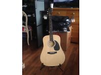 Fender guitar (includes guitar, strap, case & stand) Open to offers