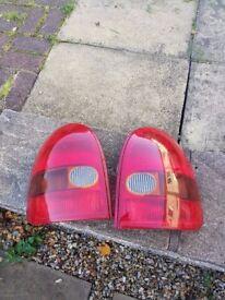 Vauxhall Corsa B rear lights 1993-2000 tail lamps 3 door