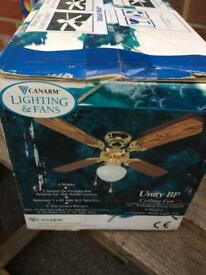 Ceiling fan unused and unopened