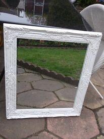 Lovely white/gold ornate mirror