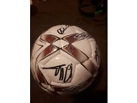 Signed Hearts football