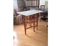Vintage retro 1950s Formica Drop Leaf Extendable Kitchen Table desk 1960s Folding Shabby Chic