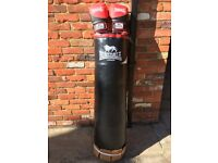 Lonsdale punch bag and 14oz gloves