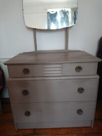 Upcycled chest of drawers with mirror