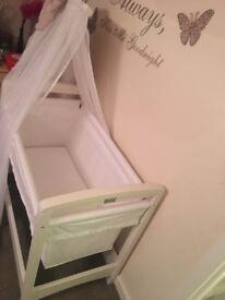 Silver cross crib