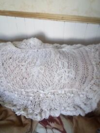 White babies shawl
