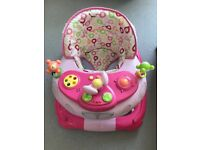 Baby walker pink - mothercare walk and rock