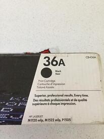 HP laser jet printer cartridge 36A black