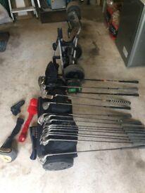 Golf Powakaddy, bag & clubs