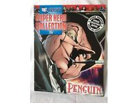 DC Penguin Figurine complete with Super Hero Collection 26 Magazine.