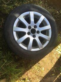 3 x VW polo alloys with tyres