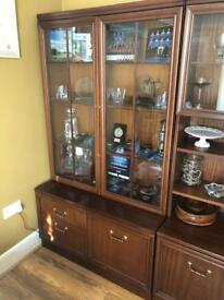 G-Plan display cabinets
