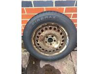 Firemax 195/65/15 used tyre and steel