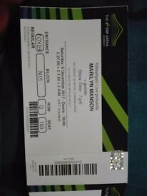 2 tickets for Marilyn Manson concert