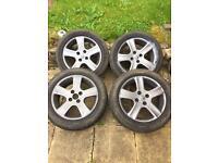 """Peugeot 16"""" alloy wheels grey"""