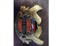 Brass Harley Davidson belt buckle