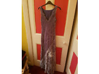 Bias cut, beautiful lilac shade, size 14 Monsoon evening dress, fully lined as new.