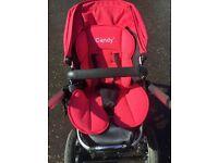 Icandy pink buggy stroller pram