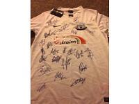 Signed PNE football shirt