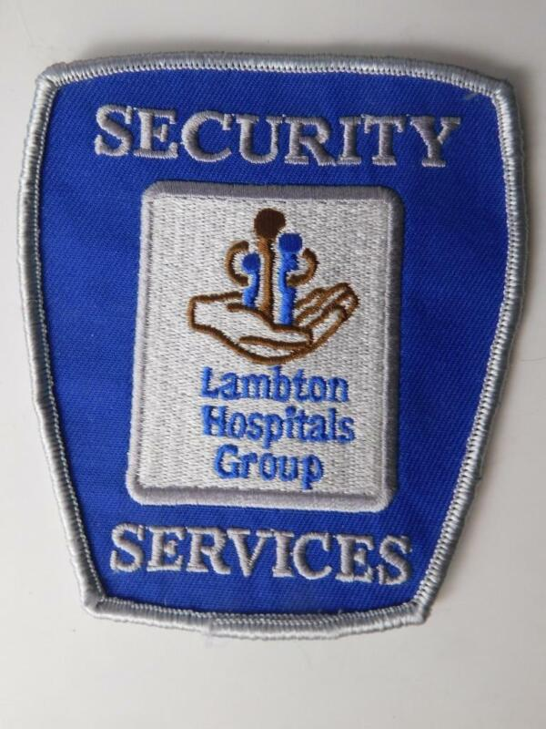 LAMBTON HOSPITAL  SECURITY SERVICES OFFICER VINTAGE PATCH BADGE CANADA POLICE