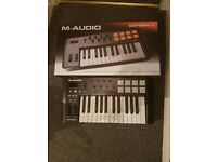M-Audio Oxygen 25 IV | USB Keyboard and Pad MIDI Controller Featuring Pad/Velocity - Sensitive Keys