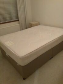 Double divan bed good slumber night matteres £60 very good condition