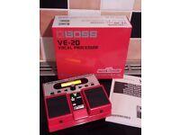 Vocal Performer BOSS VE-20 Vocalist Stompbox Mulit Effects Harmoniser Pedal