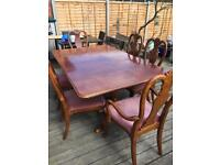 Reproduction large table and 6 chairs