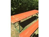 Vintage German Beer Tables and Benches