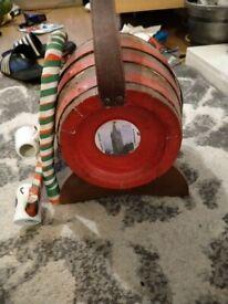 Decorative wine barrel and cups