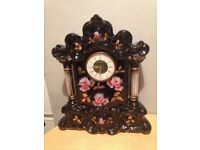Large Antique West German Mercedes Mechanical wind china clock Good Condition