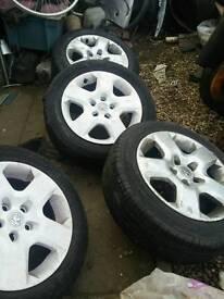 Vauxhall/tyres/rims/wheels