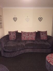 Brilliant condition sofa spiny chair and puffy