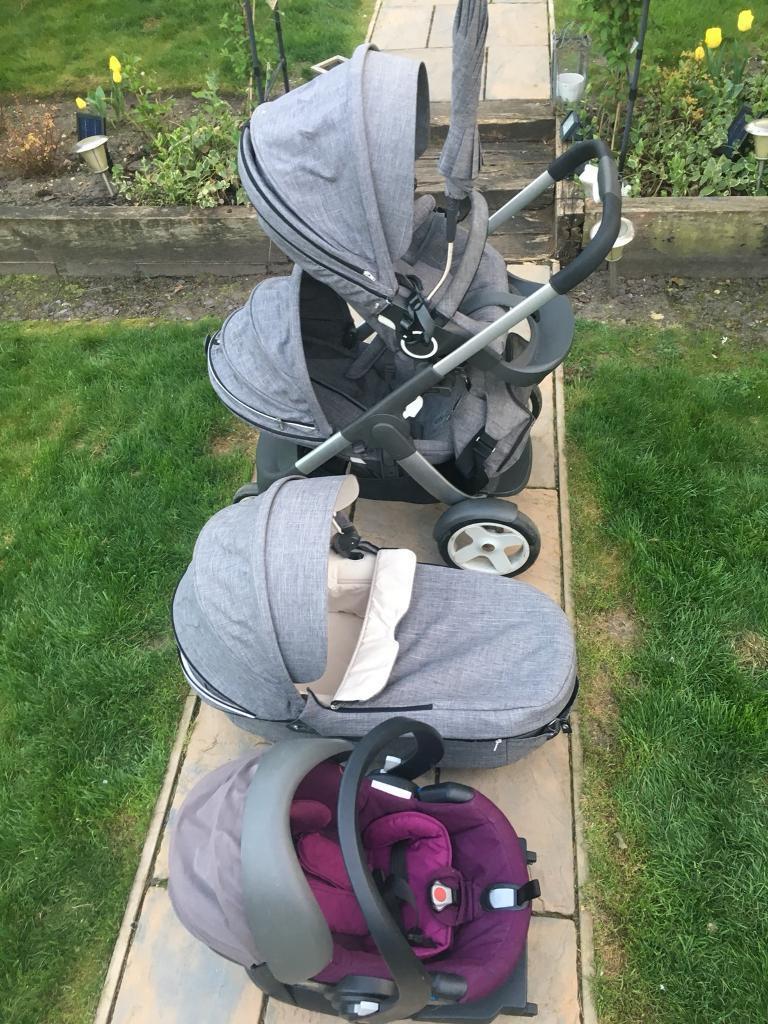 Stokke Crusi Stroller Car Seat Cot Sibling Seat And Mo In Ipswich Suffolk Gumtree