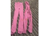 Children skiing thermal tights