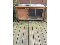 Outdoor rabbit or guinea pig cage with cover
