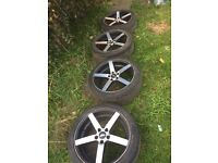 """18"""" 5 spoke alloys came off Vauxhall zafira mat fit others"""