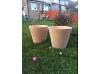 Large terracotta garden plant pots 60cm