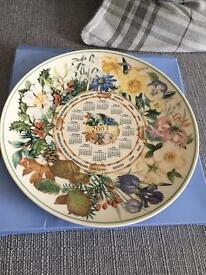 Wedgwood calendar plate