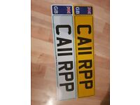 Number plate with documents ca11rpp