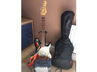 Junior Electric guitar amplifier and case. Ideal for starter