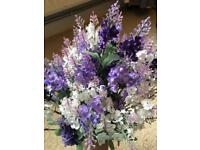 Silk lavender bunches and real lavender flowers for wedding/decoration