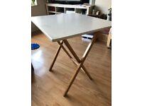 Habitat drew white folding dining table 2 person