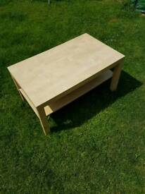Ikea coffee table and 2 side tables