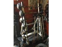 Barbell heavy set and rack