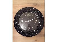 Beautiful black diamond clock